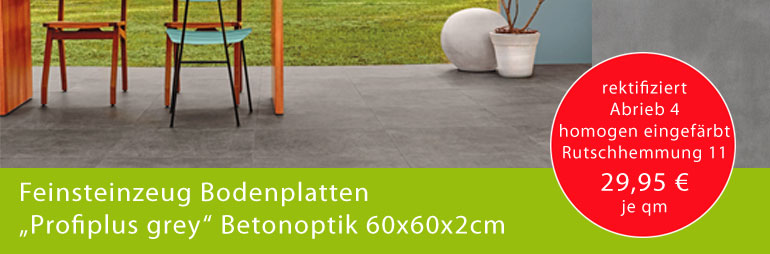 Mobau Cremer Angebot des Monats Bodenplatten Profiplus grey