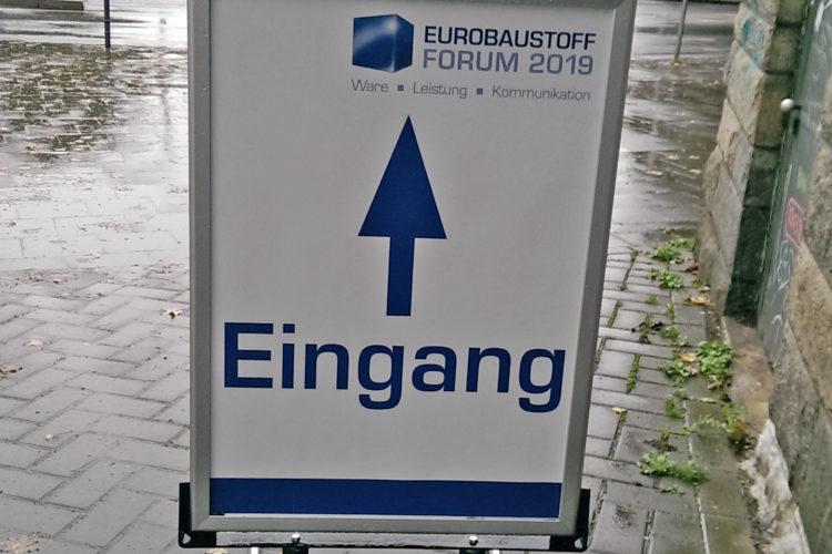 Nonis besuchte das Eurobaustoff Forum 2019